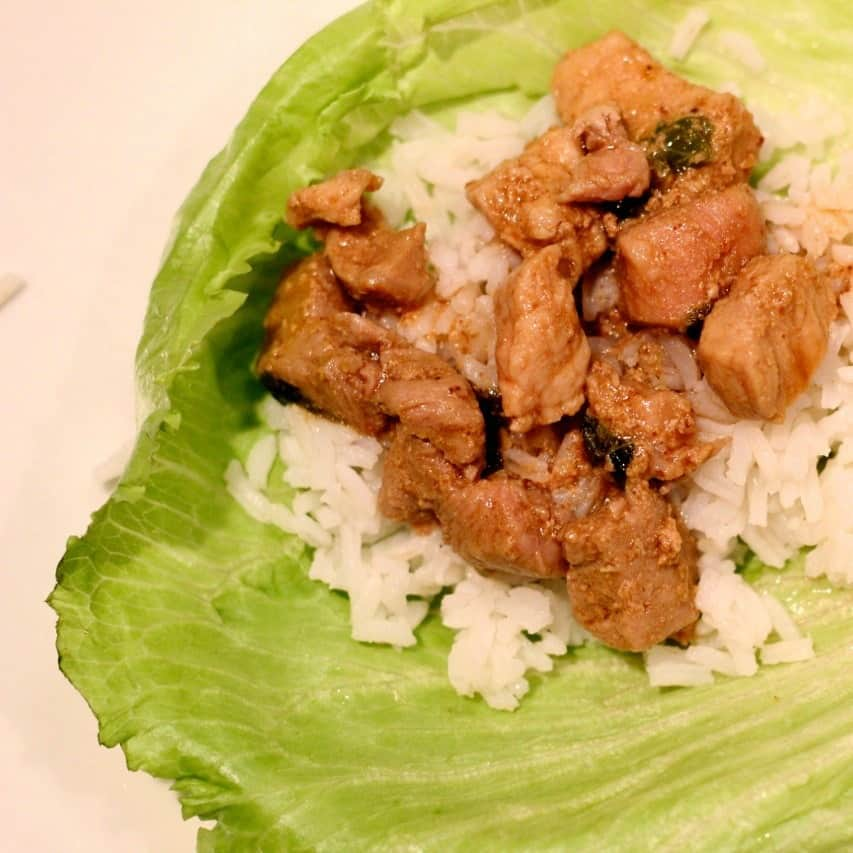 Quick & easy pork lettuce wraps make the perfect healthy weeknight dinner
