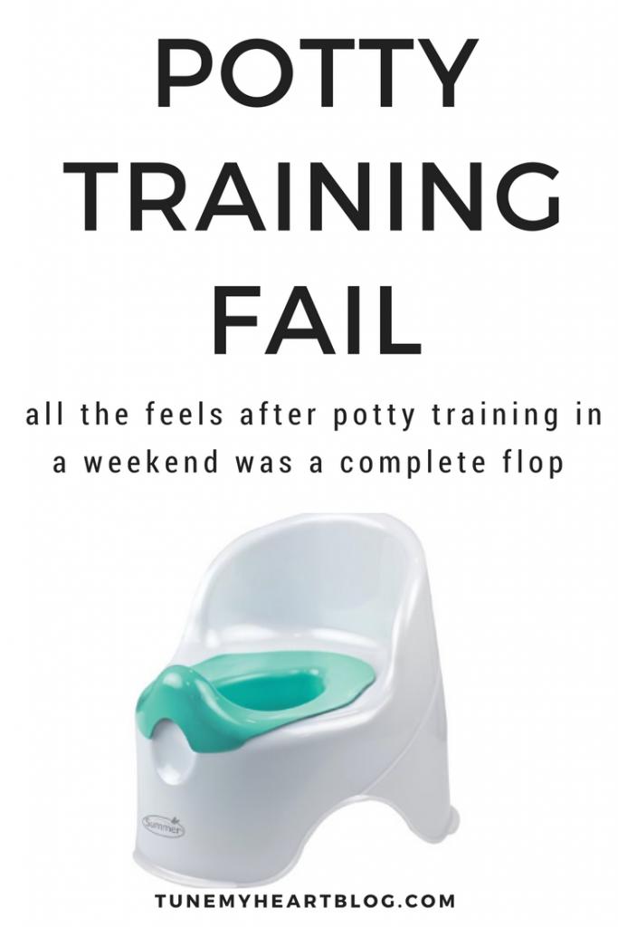 When potty training in a weekend didn't work, my feelings shocked me!