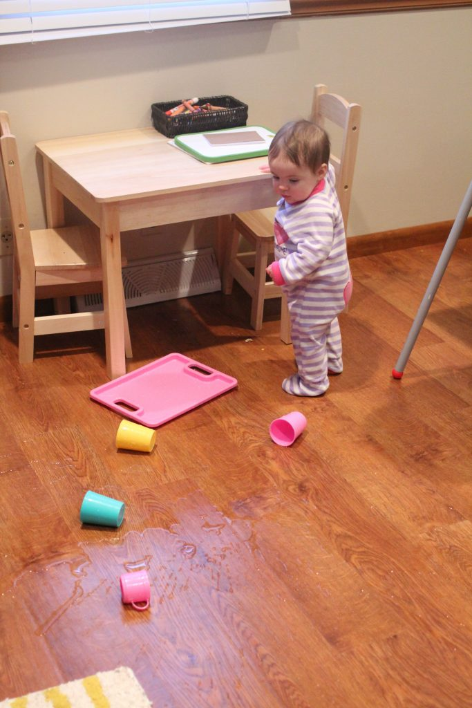 teaching a one year old no