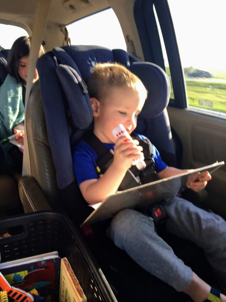 do a dot paints road trip toddlers