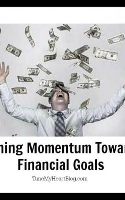 gaining momentum towards financial goals