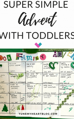 Keep Advent with Toddlers simple & teach your little ones about Jesus' birth. Here are no-prep activity ideas, a free calendar, and Bible stories.