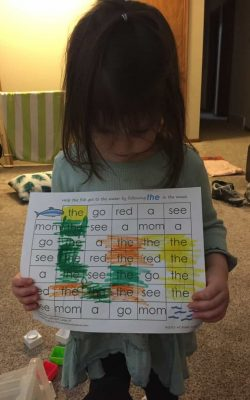 """Even though I was nervous about starting my 3 year old with preschool at home, we took the plunge! Her interest in words, letters, and reading is what initiated it all. In fact, I can't even bring myself to call it preschool or homeschool.... we call it learning time. Read more about what finally made me give """"homeschool preschool"""" a try!"""