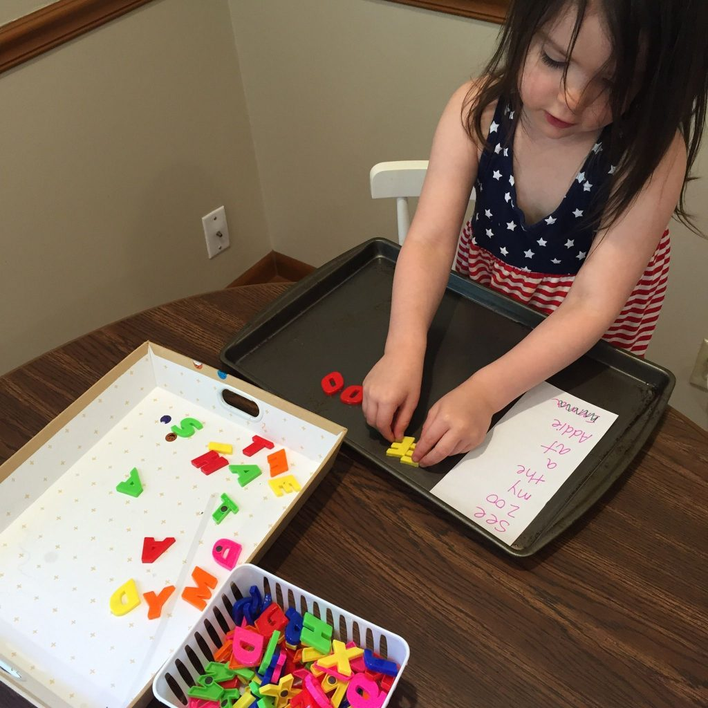 Using Magnetic Letters To Practice Sight Words
