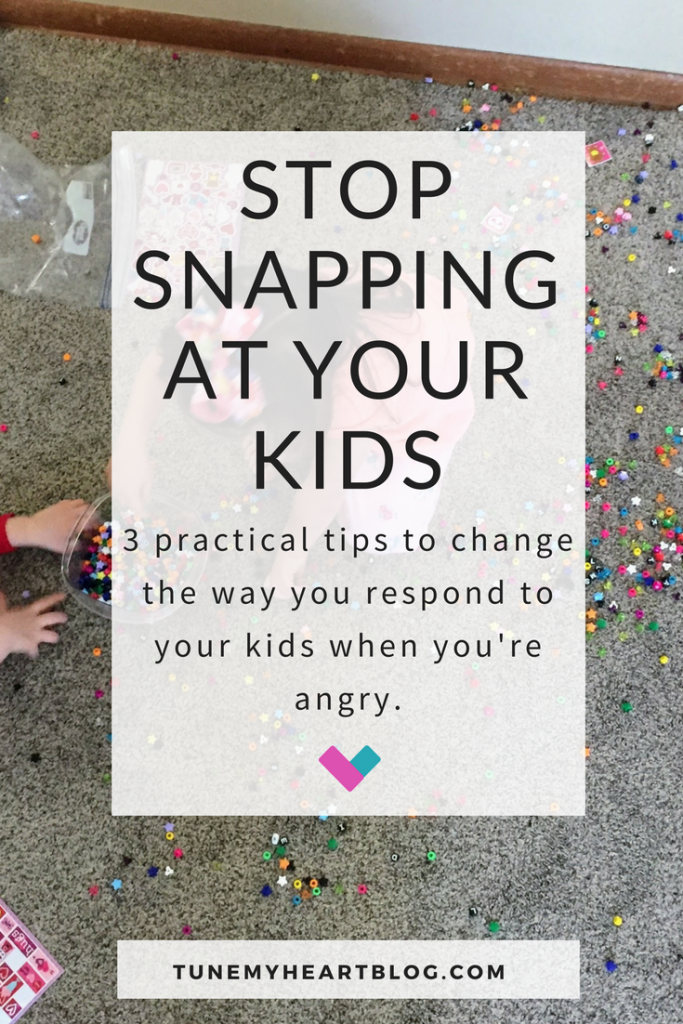 Ugh! So hard to stop yelling at your kids when you're ticked... but this is really good advice. Very down to earth and simple, grace filled parenting tips.