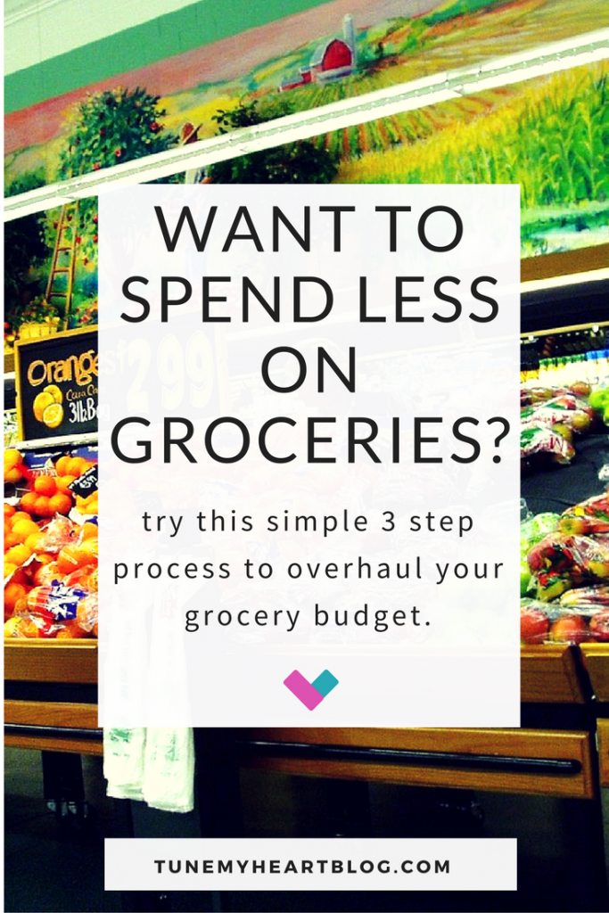 This actually works! 3 steps to cut your grocery budget. No gimmicks or coupons. Just common sense + self discipline
