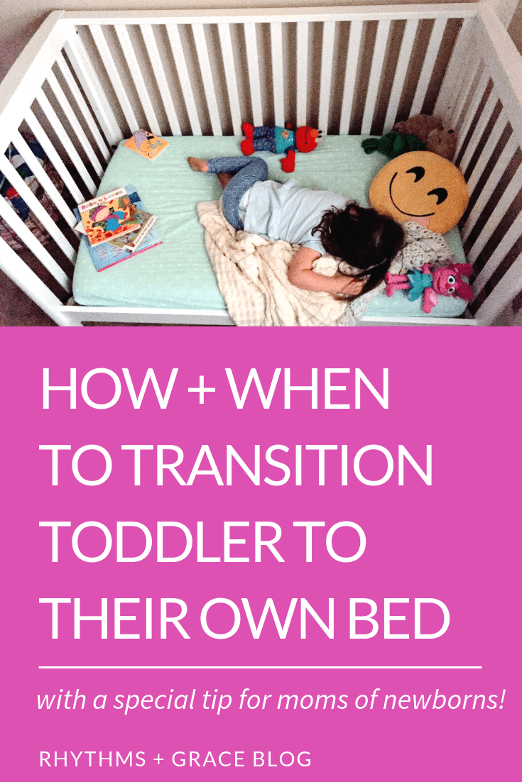 Transitioning toddler to big kid bed