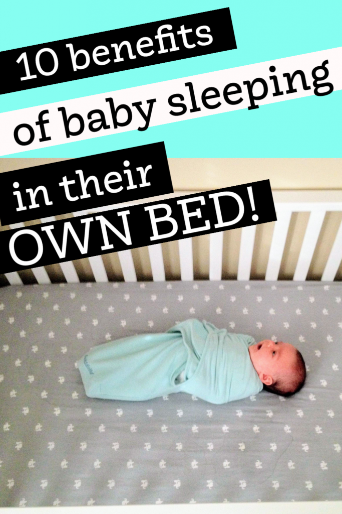 baby sleeping in their own bed