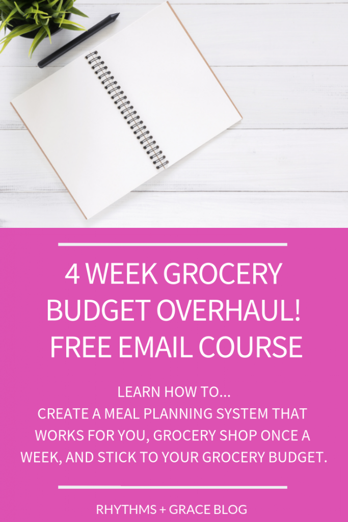 Are you ready to finally learn how to meal plan? This 4 week challenge course is all about meal planning for beginners. Learn to meal plan on a budget, to stick to your grocery budget. Get meal planning tips and tricks for a family. This will cover everything you need to know to be a meal planning rock star!