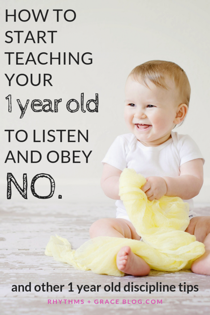 1 year old discipline tips