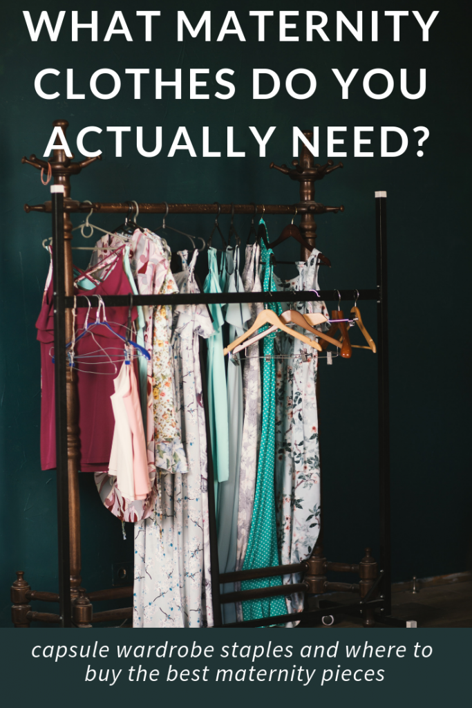 want to create a maternity capsule wardrobe? This regular mom put together the best list of what you'd actually need. It's nice to get advice from a normal mom who wants cute maternity clothes on a budget instead of a fashion blogger!