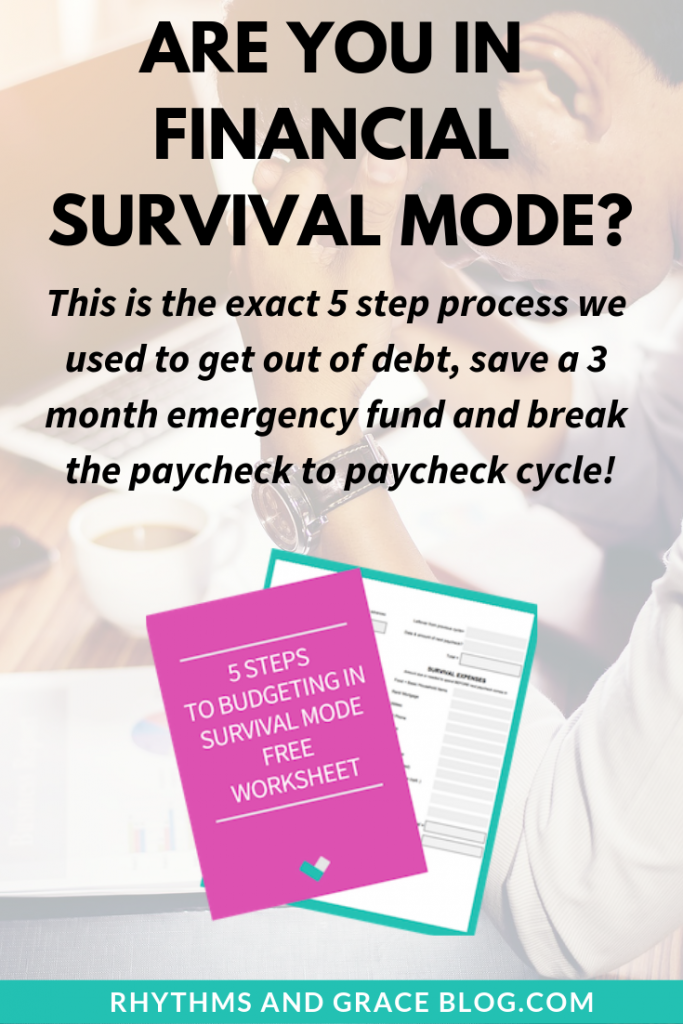 This process totally helped us get out of debt and get ahead financially!! If you're really committed to breaking the paycheck to paycheck cycle, this will help you like it helped us! #budget #personalfinance #debtpayoff #studentloans budgeting in survival mode
