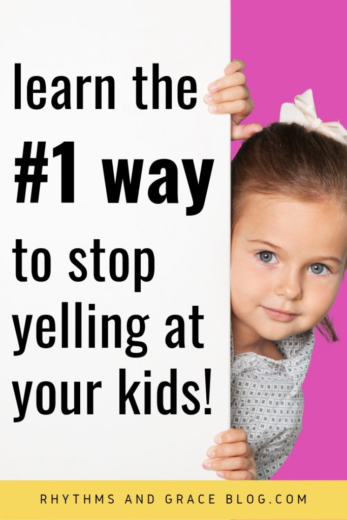 Do you feel guilty for yelling at your kids? Here's a simple tip for how to stop. This mommy blog is full of great, practical parenting advice for moms of littles. #parenting #mommyblog #momblog #parentingtip #toddlers #raisinglittles #terribletwos