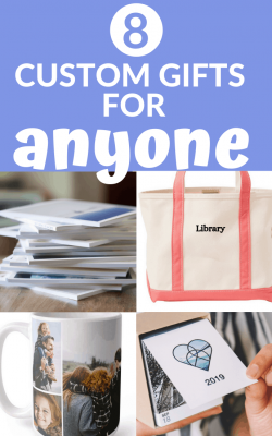So glad I stumbled on this custom gift idea post!! The custom library tote bag and page a day photo calendar are so fun. Such great ideas in here - custom gifts for mother's day; custom gift ideas for grandma!