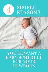 Do you have a fussy newborn who has their days and nights mixed up? A baby schedule will make your baby so much happier? The secret is...