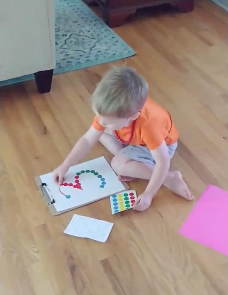 toddler dot sticker ideas