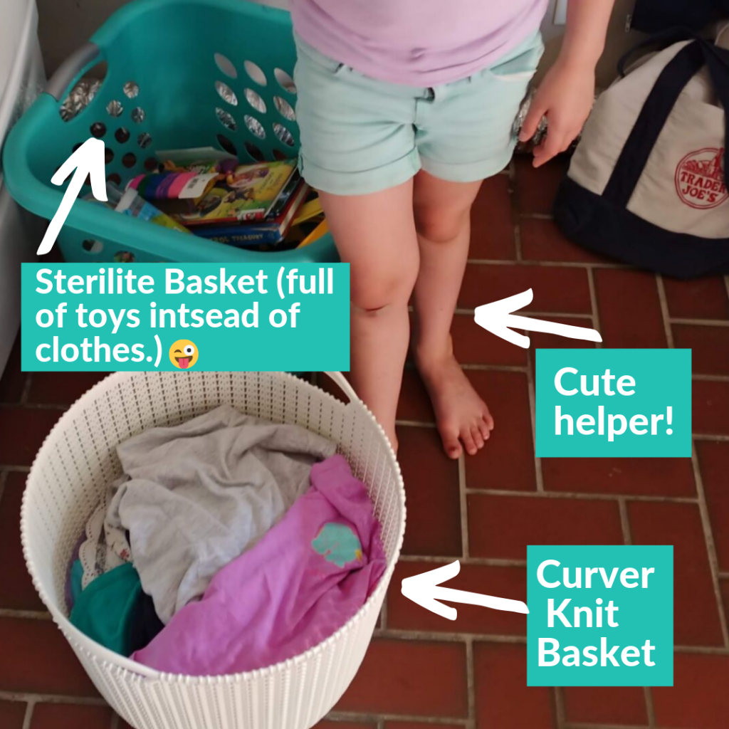 overwhelmed by laundry - laundry tips with kids