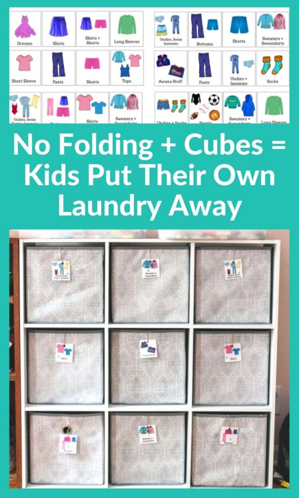 easiest way to sort kids clothes if you're overwhelmed by laundry