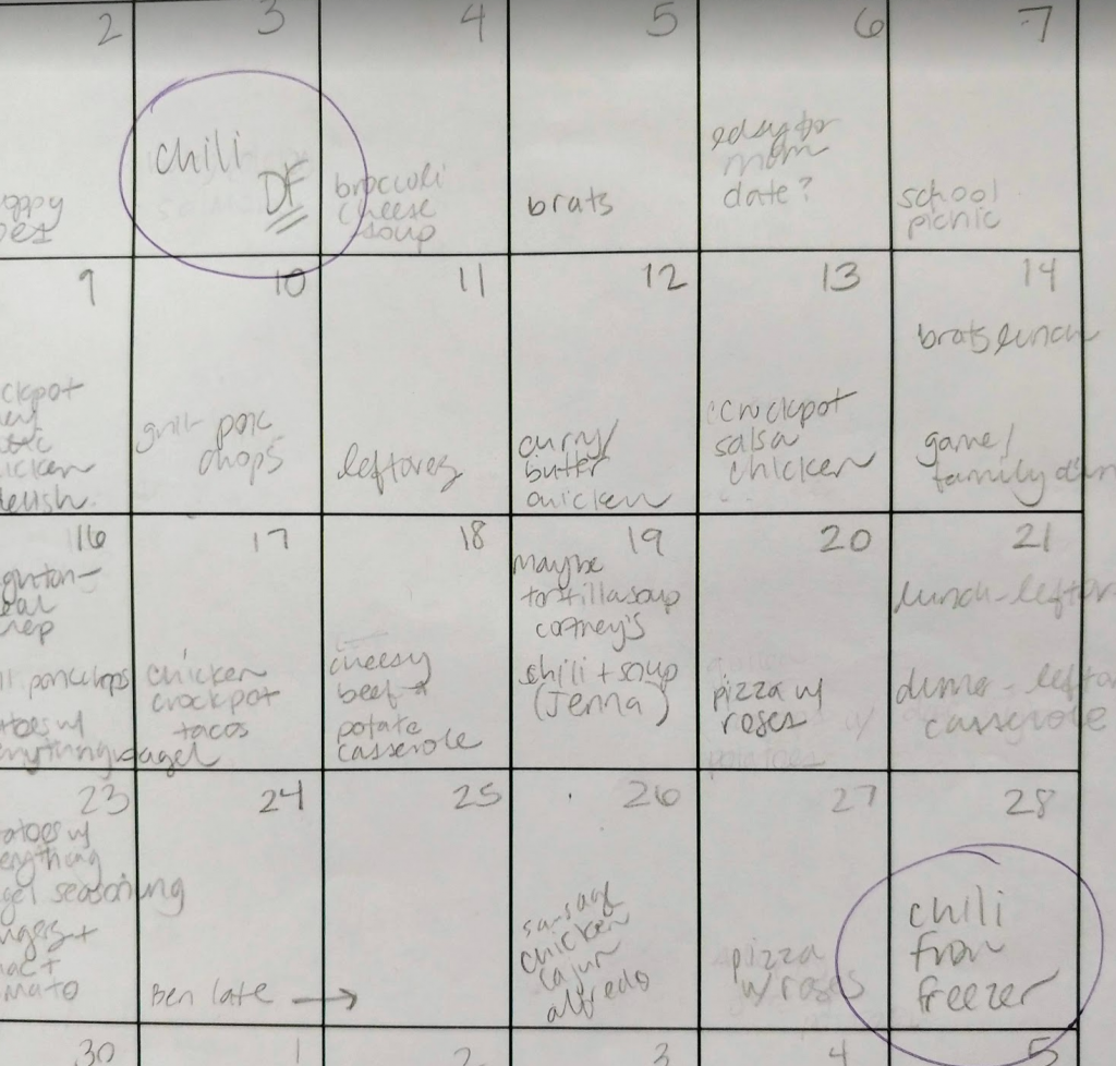 Meal Plan for the Whole Month