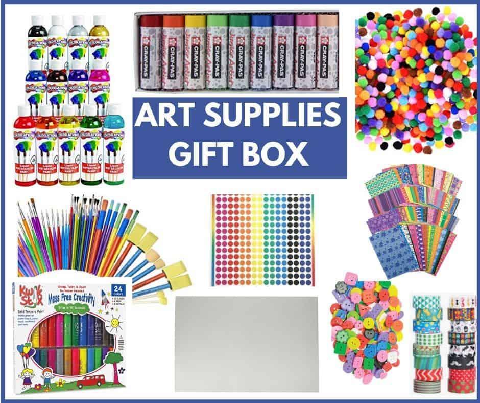 ART SUPPLIES GIFT BOX STARTER KIT