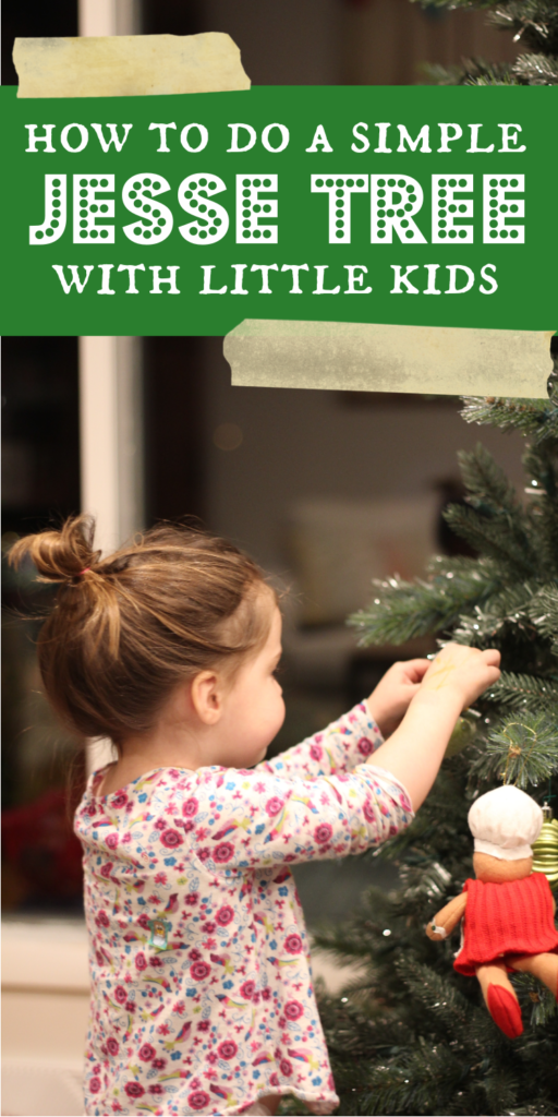 how to do a jesse tree with toddlers