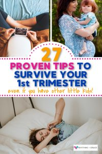 survive first trimester with toddlers