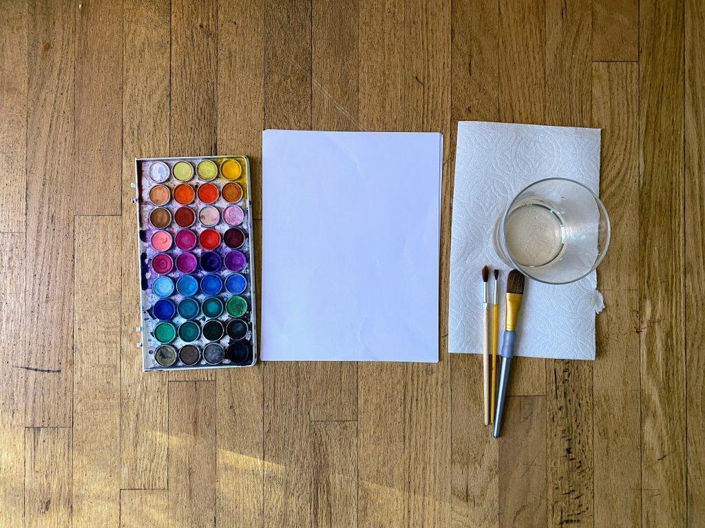 super simple water color paint invitation to create toddlers