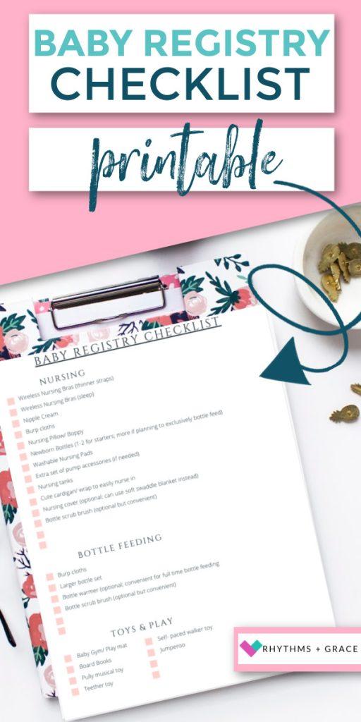 baby registry must haves checklist pdf