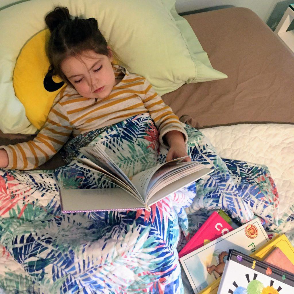 child sleeping during storytime