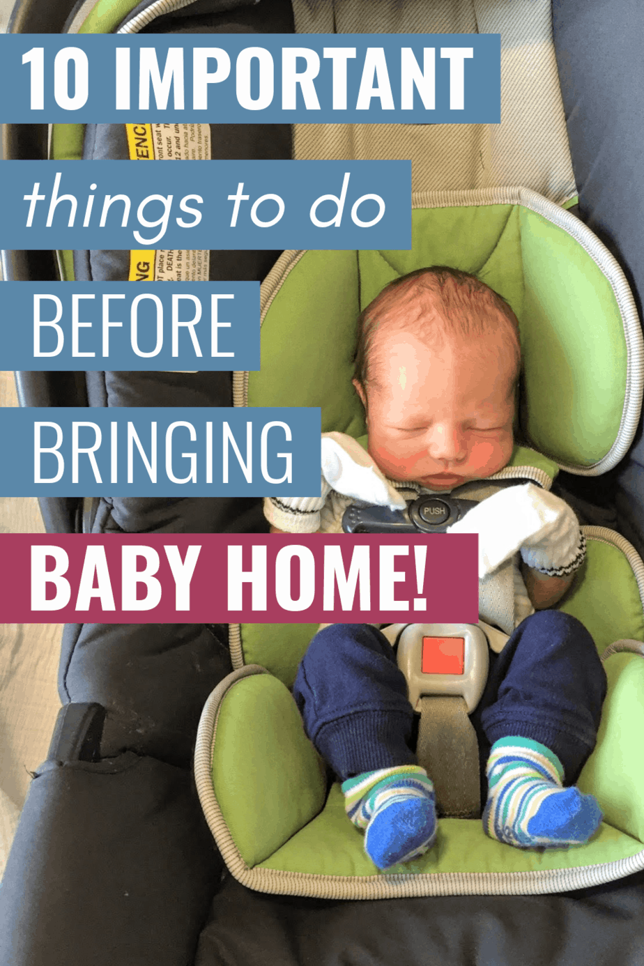 tips for bringing baby home