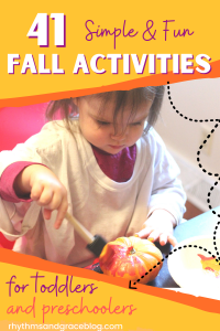 fall activities for toddlers and preschoolers